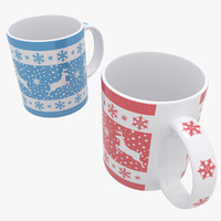 new year mug christmas 3d max