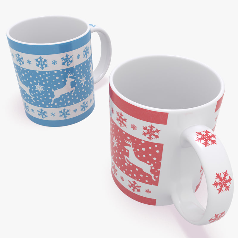 new year mug christmas 3d max