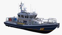 3d model boat nypd