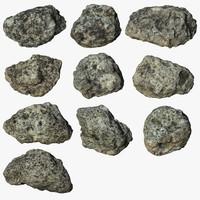 scan rock 3d max