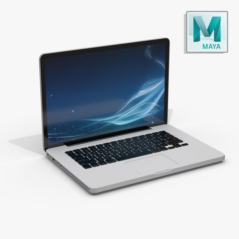 3d realistic laptop -