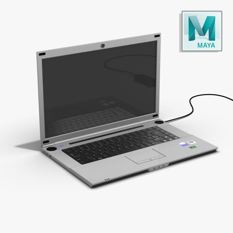 3d model laptop powercord -