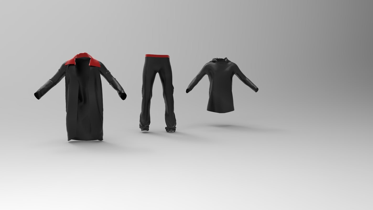 3d model small package clothes