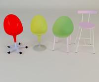 3d stool set