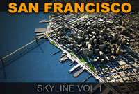 3d san francisco skyline