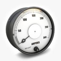 3d vintage ammeter 01