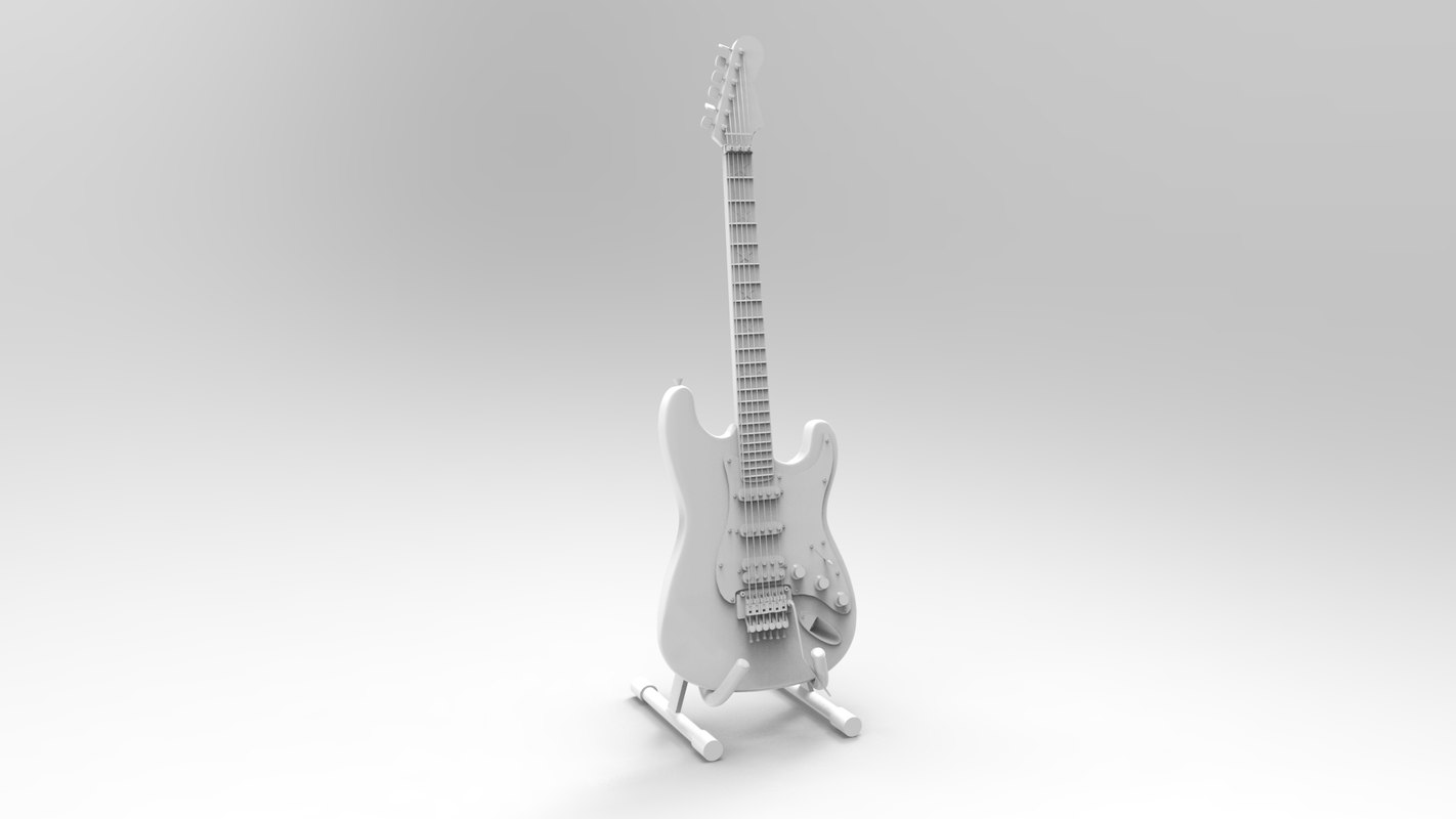 guitar fender richie sambora 3d model