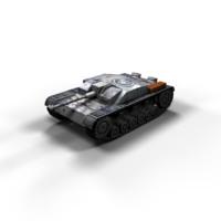 StuG III Ausf F Low Poly