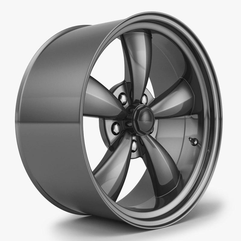 3d wheel rim mustang model
