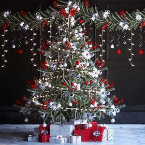 3d model of tree christmas