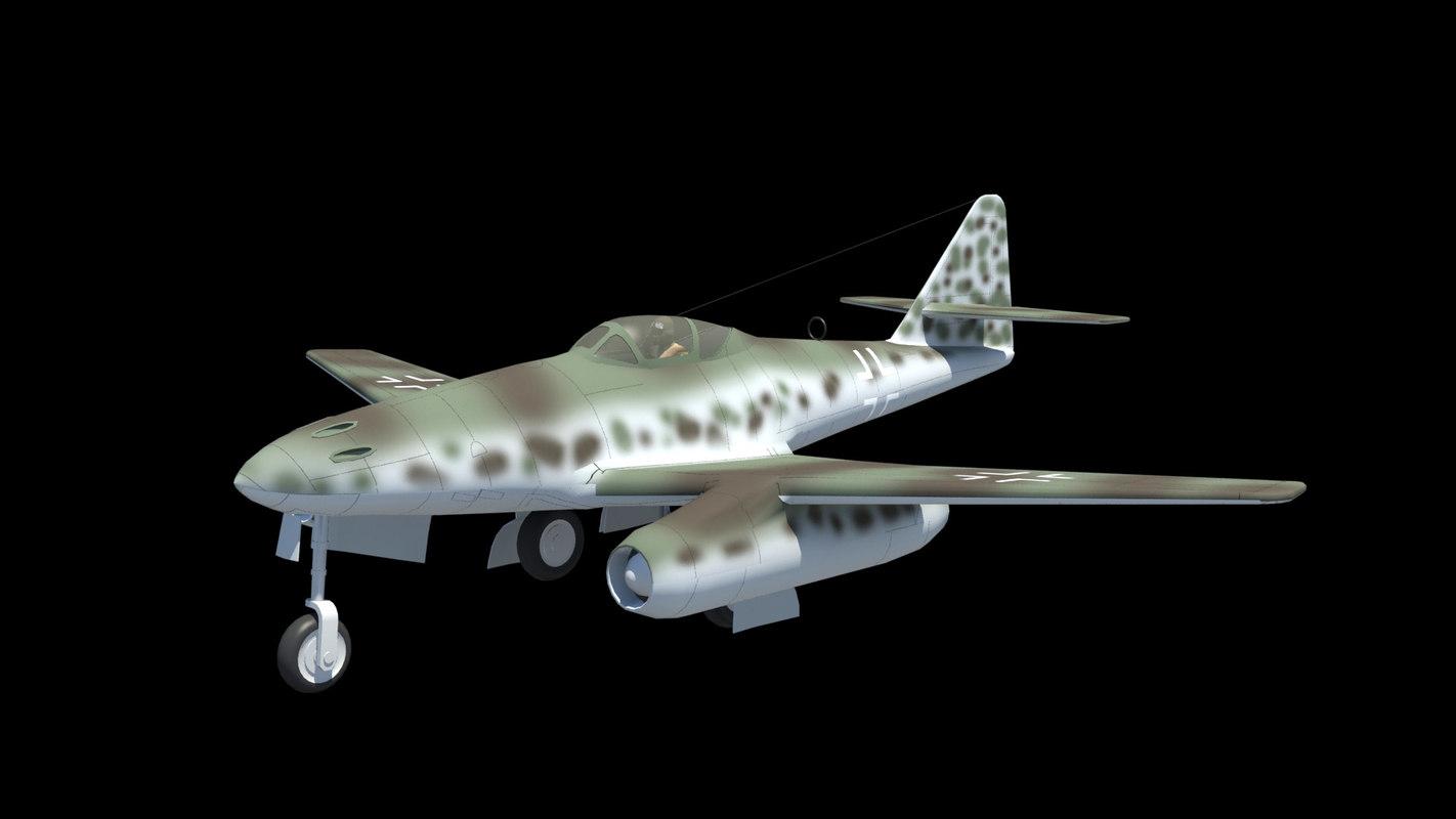 3d me262 jet fighter