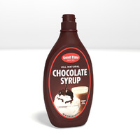 Chocolate Syrup Bottle - Rigged
