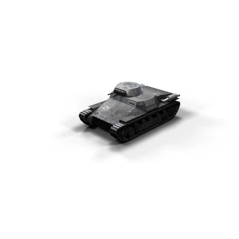 3d max panzer tank polys