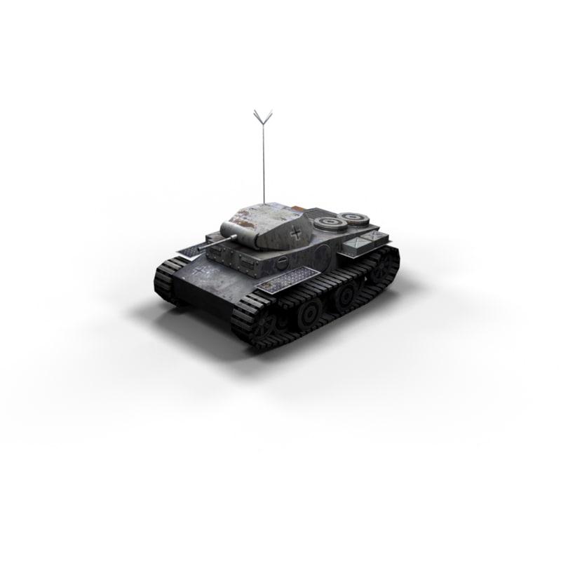 3d luchs panzer 2 tanks model