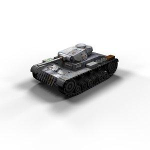 panzer 3 ausf f 3d model