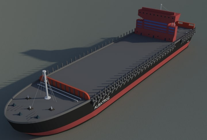 3d ship container