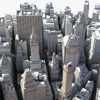 3d model manhattan lower water