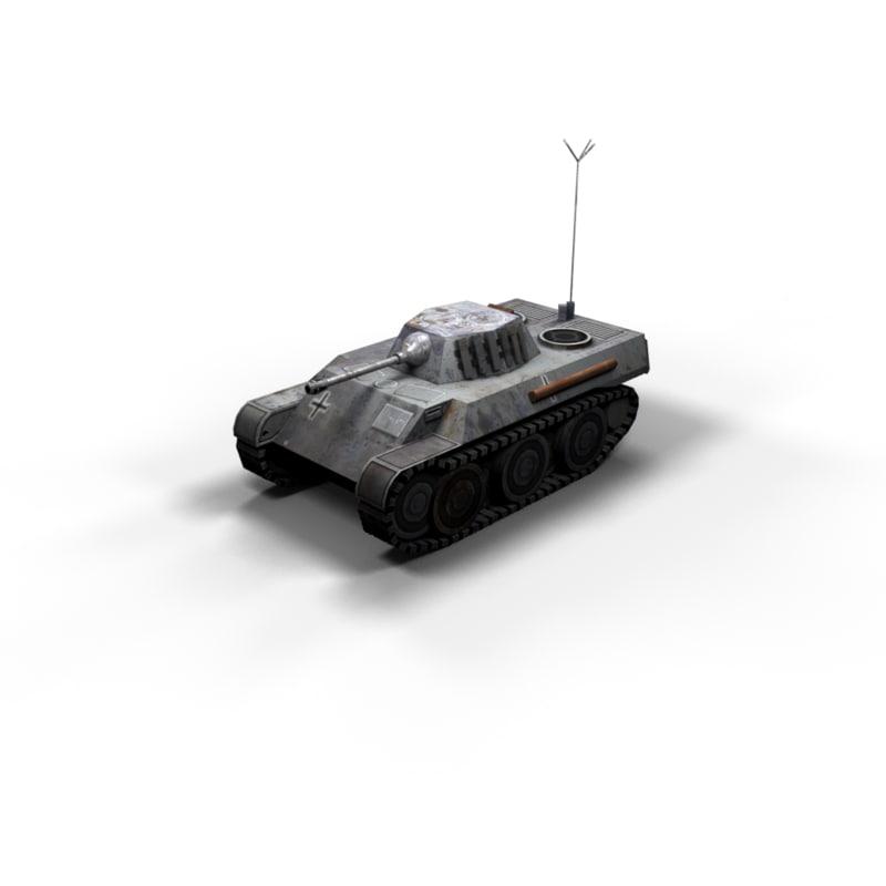 3d vk tank 2 polys