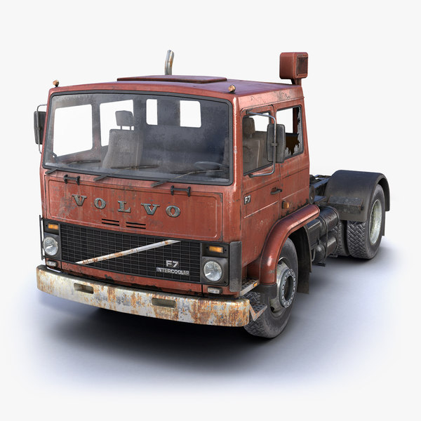 low-poly rusty truck f7 3d max