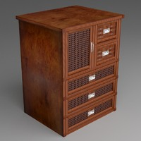 wicker dresser version 1 3d fbx