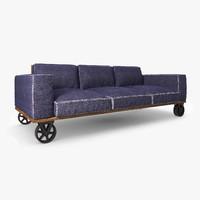 3d model sofa loft jeans
