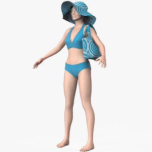 3d clothing female model