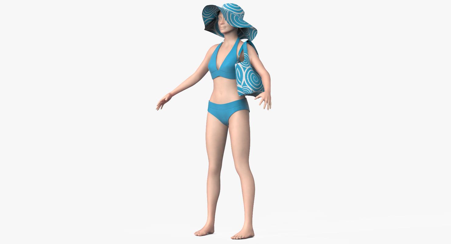 3d clothing female model