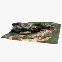 3d mystical glaciers rock model