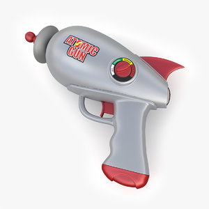 3d model toy atomic gun pistol