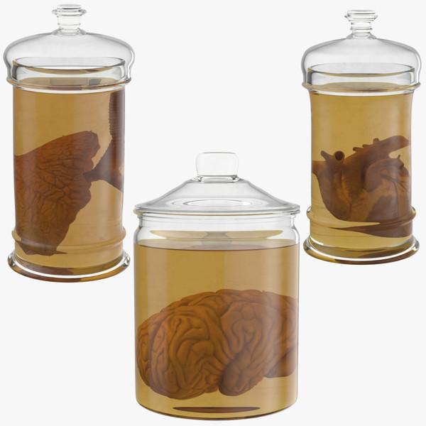 3d vintage organ jars model