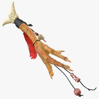 voodoo chicken foot charm 3d model