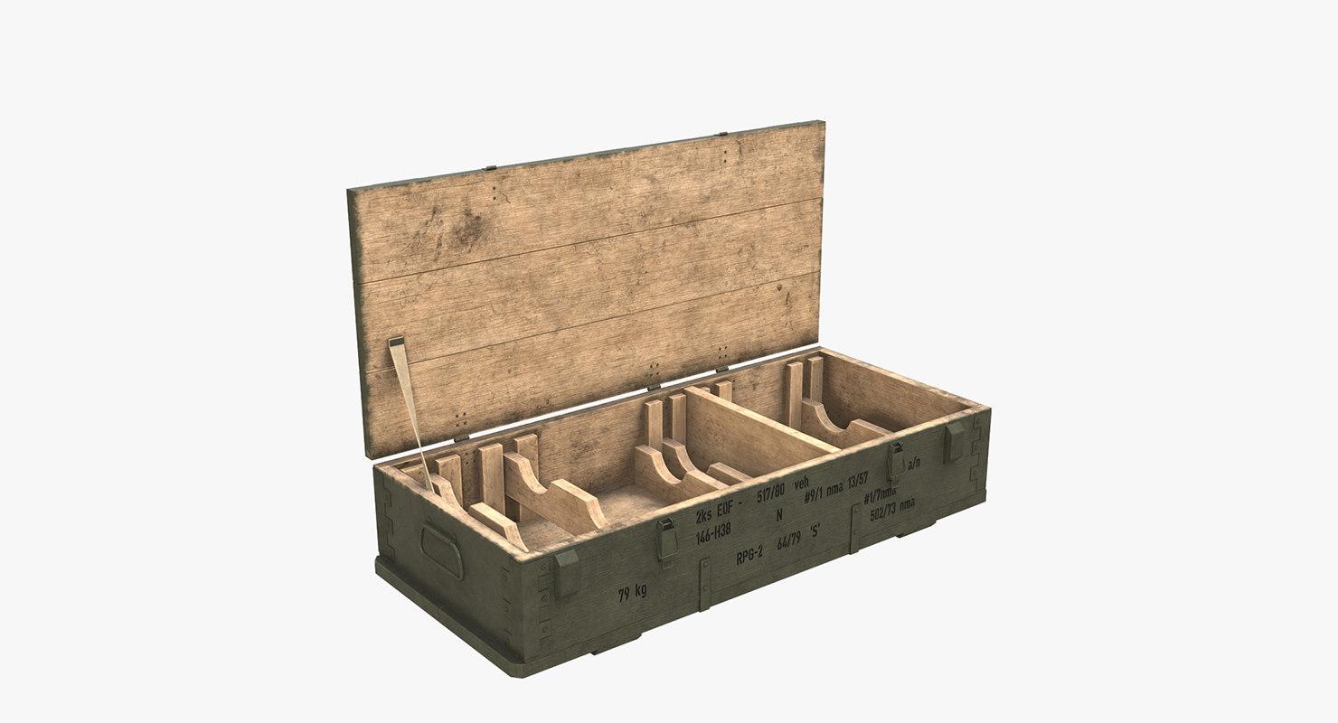 3d model ammo crate