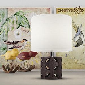 3d model vintage table lamp