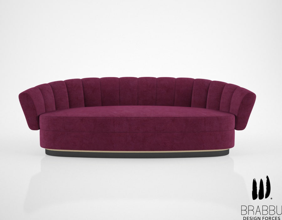 3d brabbu powel sofa model