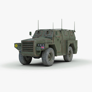 british humber pig armored truck 3d model