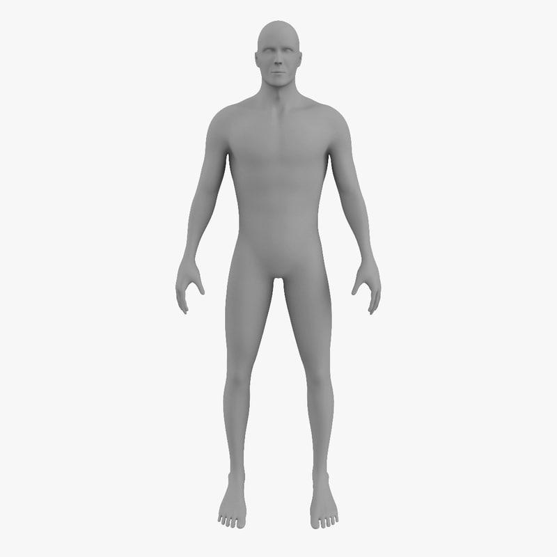 male body 3d max