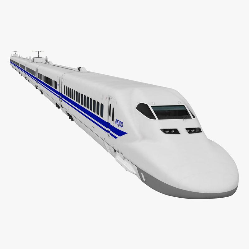 bullet train jr700 japan 3d obj