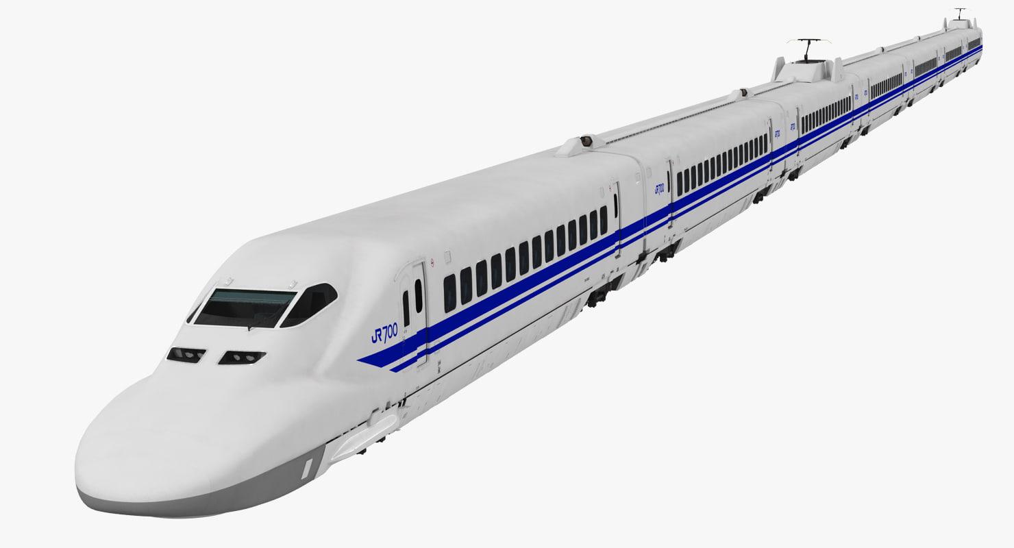 3d bullet train jr700 japan