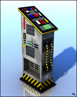 3d sci-fi operation panel