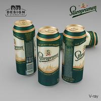 beer staropramen 3d max