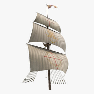 sailing ship main mast 3d max