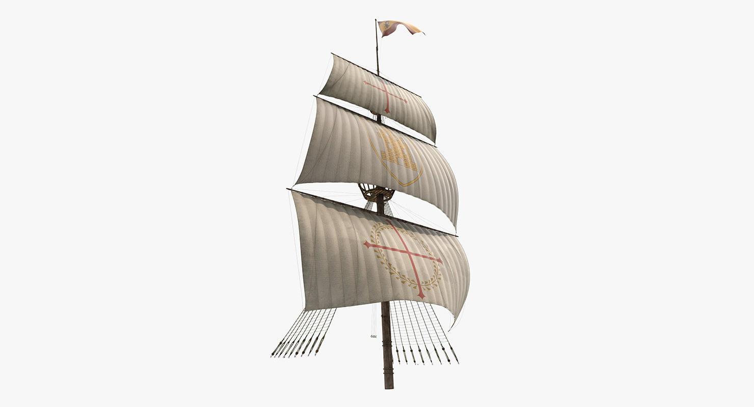 sailing ship main mast 3d max