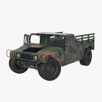 cargo troop carrier car 3d model