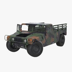 cargo troop carrier car 3d model