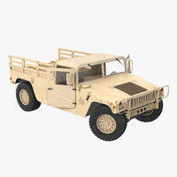 Military Cargo Troop Carrier HMMWV m1038 Rigged Camo Desert