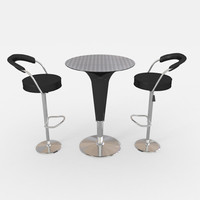 Cocktail table and barstool