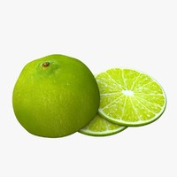 lime fruit food 3d ma