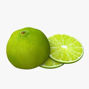 lime fruit food 3d ma