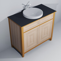 Traditional Oak Washbasin