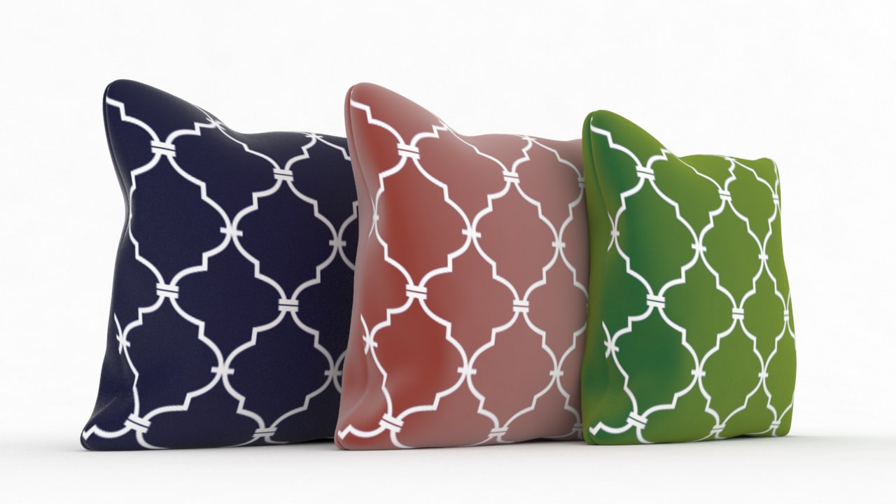 3d model decorative pillow v1